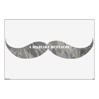 A Regulation Military Mustache Wall Decal