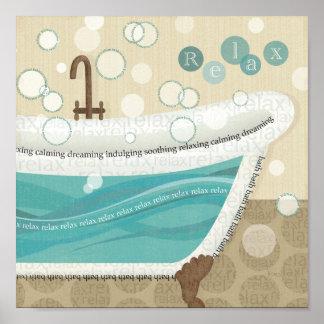 A Relaxing Bath Poster