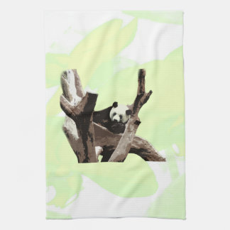 A relaxing giant panda on tree branches kitchen towels