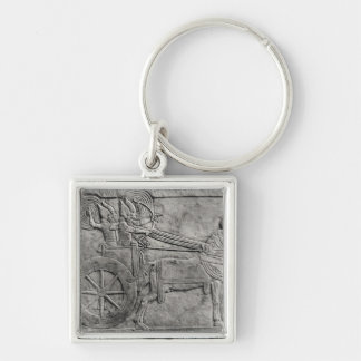 A relief depicting the Assyrian army in battle Keychain