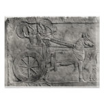 A relief depicting the Assyrian army in battle Posters