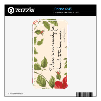 A Remedy For Love iPhone 4/4S Skin Skin For iPhone 4
