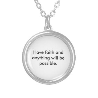 A Reminder of Faith Round Pendant Necklace