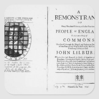 A remonstrance by the Levellers Square Stickers