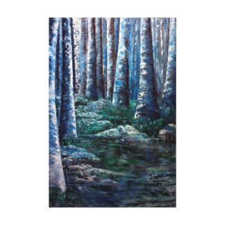 A Remote Place in the Forest Canvas Print