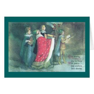 A Renaissance Procession Vintage Christmas Card