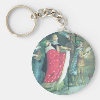 A Renaissance Procession Vintage Christmas Keychain