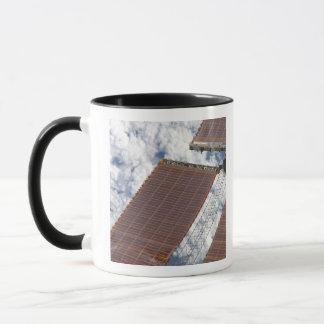 A repaired solar array mug