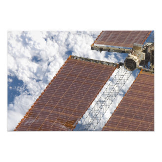 A repaired solar array photo print