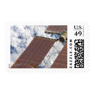 A repaired solar array stamp