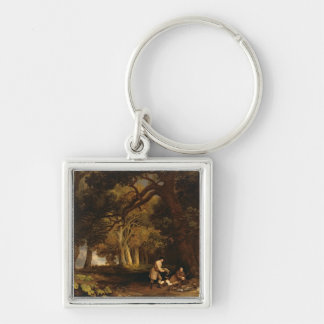 A Repose After Shooting (oil on canvas) Keychain