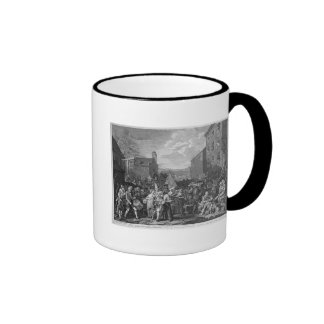 A Representation of the March of the Guards Ringer Coffee Mug