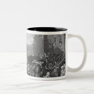 A Representation of the March of the Guards Two-Tone Coffee Mug