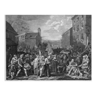 A Representation of the March of the Guards Postcard