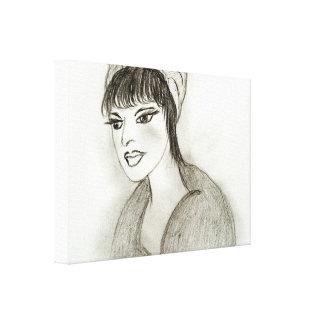 A Retro Girl Canvas Print