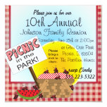 A Reunion | Picnic in the Park | Any Occasion 5.25x5.25 Square Paper Invitation Card