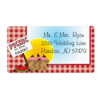 A Reunion | Picnic in the Park | Any Occasion Label