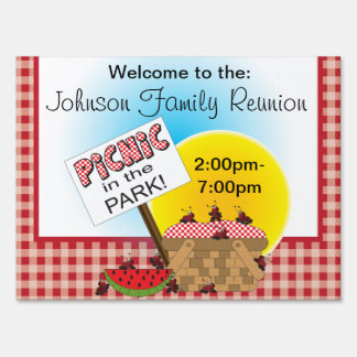A Reunion | Picnic in the Park | Any Occasion Lawn Sign