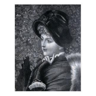 """""""A Reverie"""" Vintage Illustration Postcard"""
