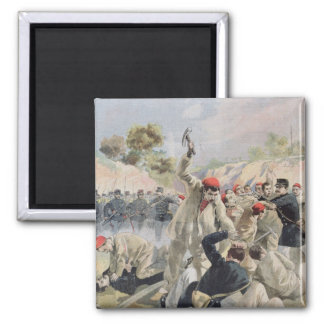 A Revolt of French Anarchists in Guyana 2 Inch Square Magnet