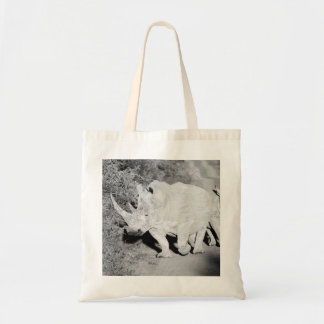 A Rhino mother and her calf in South Africa Tote Bag