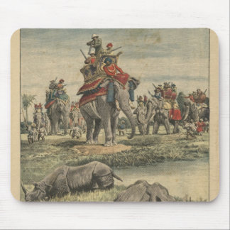 A rhinoceros hunt in honour of King George V Mouse Pad