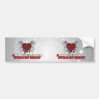 A Rhode Islander Stole my Heart Bumper Stickers