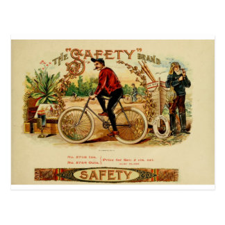 A ride and a smoke, relax enjoy be safe postcard
