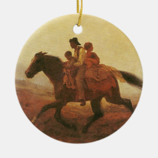 A Ride for Liberty The Fugitive Slaves by Johnson Ceramic Ornament