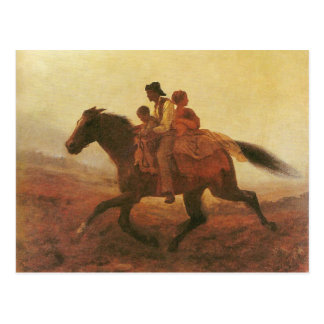 A Ride for Liberty The Fugitive Slaves by Johnson Postcard