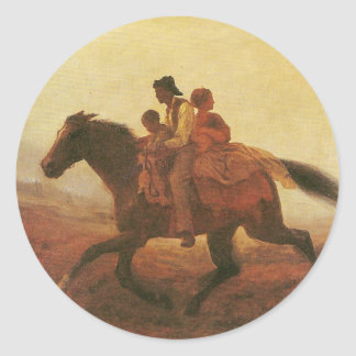 A Ride for Liberty The Fugitive Slaves by Johnson Classic Round Sticker