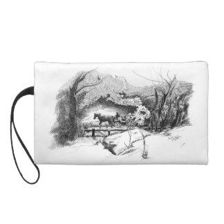 A Ride Through Central Park Wristlet Bag
