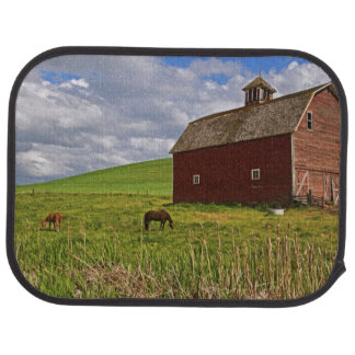 A ride through the farm country of Palouse 3 Car Mat