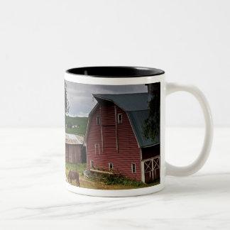 A ride through the farm country of Palouse 4 Two-Tone Coffee Mug