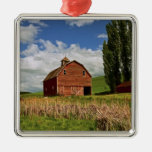 A ride through the farm country of Palouse Christmas Ornament