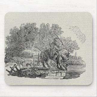 A Rider Distracted by a Flock of Birds Mouse Pad