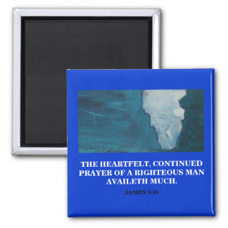 A RIGHTEOUS MAN 2 INCH SQUARE MAGNET