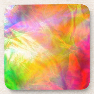 A riot of colour beverage coasters