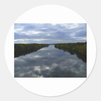 A river in Maine Classic Round Sticker