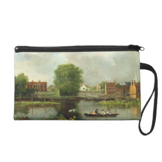 A River Landscape, possibly a View from the West E Wristlet