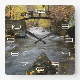A River Running Through American Fork Canyon Square Wall Clock