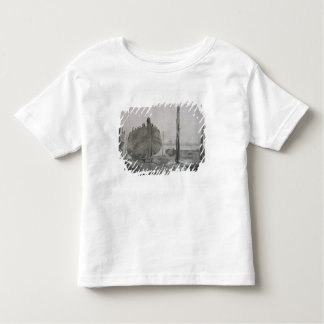 A River Scene with Vessel at Sunset Tee Shirt