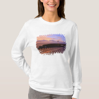 A Road & A Lighthouse Along The Coast At Sunset T-Shirt