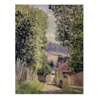 A Road in Louveciennes, 1883 Postcard