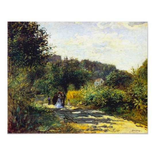 A Road In Louveciennes, by Pierre-Auguste Renoir Poster