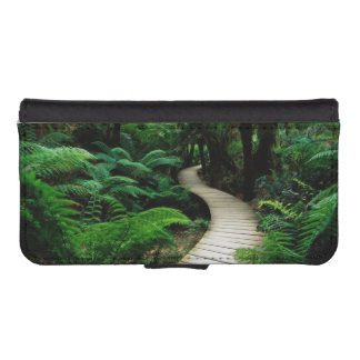 A road in the middle of the wild forest iPhone SE/5/5s wallet