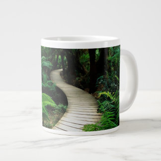 A road in the middle of the wild forest jumbo mugs