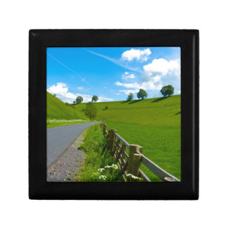 A road leading into a Yorkshire green valley. Jewelry Box