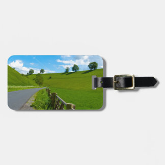 A road leading into a Yorkshire green valley. Luggage Tag