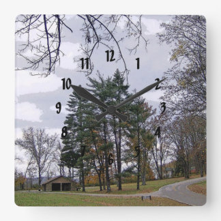A Road Not Taken Square Wall Clock